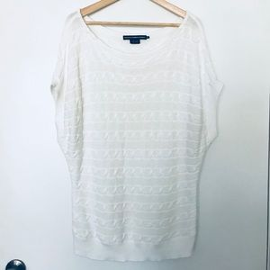 Ralph Lauren Sport Short Sleeve White Sweater